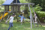Children love playing outside, and these children
