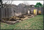 Raised garden beds also serve as rotating compost