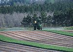 Farmer spraying pesticide as part of pest manageme