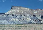 Mancos shale is eroded by the forces of wind and w