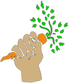 Hand holding carrot