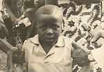 This 1968 image depicts a young West African Camer