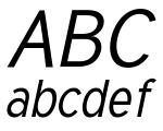 Tuffy Italic Font