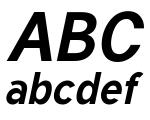 Tuffy Bold Italic Font