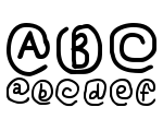 At Sign Regular Font