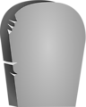 Illustration of a blank tombstone