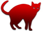Illustration of a cat silhouette