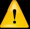 Illustration of a caution symbol