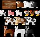 Illustration of various farm animals