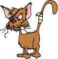 Illustration of a cartoon cat