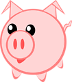 Illustration of a cartoon pig