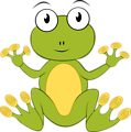 Illustration of a cartoon frog