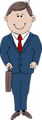 Illustration of a cartoon businessman