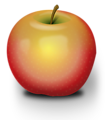 Illustration of an apple