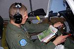 Student 'flies' last T-37 simulator mission