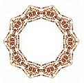 Ornamental beaded frame
