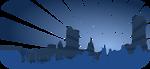blue city scene