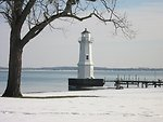A cold and lonely lighthouse