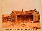 A house constructed from beer bottles on the Nevada-California border.