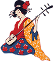 geisha playing shamisen