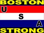 USA stripe flag Boston strong