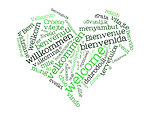 Welcome heart green
