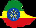 Ethiopia map & flag