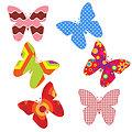 Colorful butterflies clipart