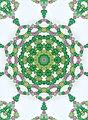 Beaded green pattern