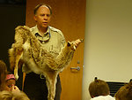 Refuge Manager Walt Ford teaches about Coyotes