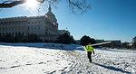 Staging Area Setup for Capitol Dome Restoration