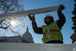 Staging Area Setup Capitol Dome Restoration