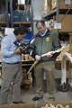Edward Grace, USFWS Deputy Assistant Director for Law Enforcement discussing the ivory.