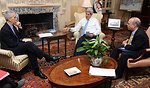 Secretary Kerry Meets With Special Envoy Stern and Assistant Secretary Russel