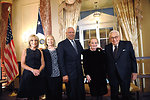 NBC's Andrea Mitchell, Secretary Clinton, and Former Secretaries General Powell, Albright, and Kissinger Pose for a Photo