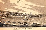 Gloucester as seen from the southwest. In: Historical Collections ... of Every Town in Massachusetts.  1841.