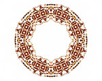Amber beads round frame