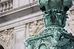 Details of Lantern in front of the Library of Congress Thomas Jefferson Building