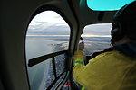 Helicopter flight above Stewart B. McKinney National Wildlife Refuge (CT)