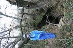 MDC biologist at cave entrance