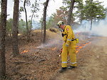 Chief Baker Lights Controlled Burn