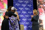 First Lady Michelle Obama Embraces IWOC Awardee Fatimata Touré of Mali