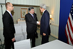Secretary Kerry Meets Euromaiden Movement's Poroshenko Before Session With Ukranian Opposition Leaders