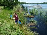 Fishing for native aquatic species