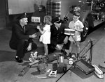 Christmas Toys To Be Fixed By Firemen Oak Ridge 1947