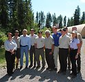 Secretary Salazar and Director Ashe with Creston National Fish Hatchery Staff