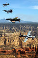 Planes of past and present soar over Sedona