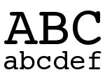 Typed Regular Font