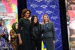 First Lady Michelle Obama and Deputy Secretary Higginbottom With IWOC Awardee Ruslana Lyzhychko of Ukraine