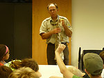Refuge Manager Walt Ford teaches about Bobcats